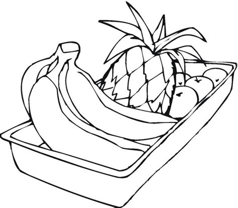 free coloring pages of fruit basket