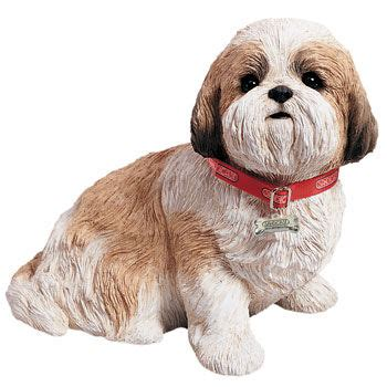 white and gold shih tzu shih tzu gold white sculpture size