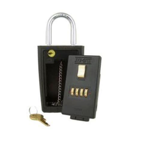 Key Lock Box Home Depot by Nuset 4 Number Combination Lockbox Key Storage Lock Box