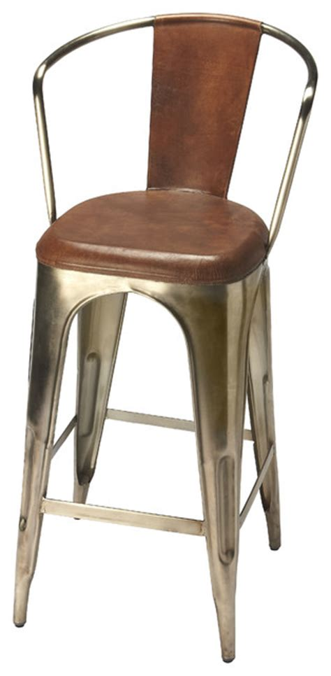 leather and iron bar stools butler specialty company butler roland iron leather