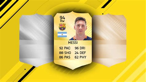 Fifa Card Template by Fifa 17 Card Template