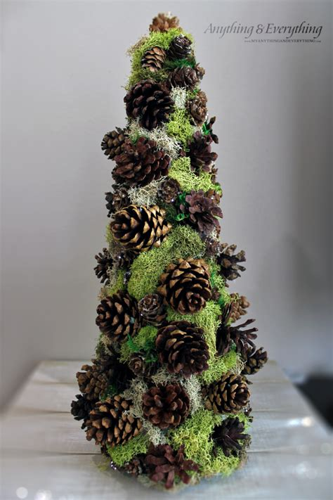 pinecone decorative tree trim the tree blog hop