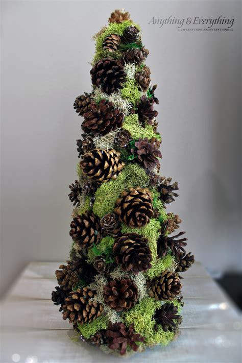 pinecone decorative tree trim the tree blog hop