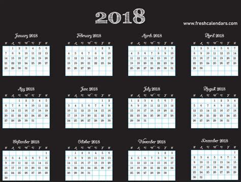 free 2018 calendar in printable format blank templates webelator