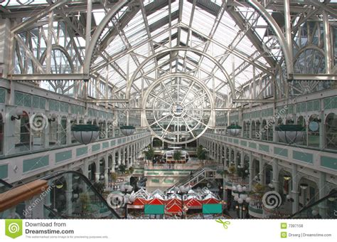 design center dublin dublin shopping center with transparent roof stock photo