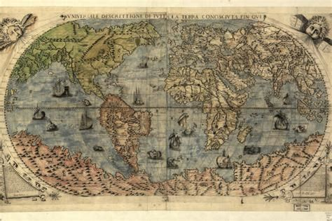the treacherous world of the 16th century how the pilgrims escaped it the prequel to america s freedom books 16th century world map photographic print by library of