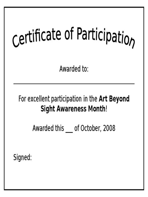 simple certificate template participation certificate 6 free templates in pdf word