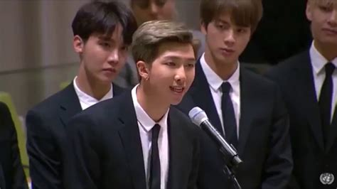 kim namjoon un speech eng sub bts leader kim namjoon at un youth strategy