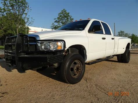 how does cars work 2003 dodge ram 3500 parking system purchase used 2003 dodge ram 3500 cummins diesel 6cyl 5 9l dually 4x4 auto leather runs great in