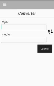 Conversor MPH/Milha para Km/Quilômetro for Android - APK
