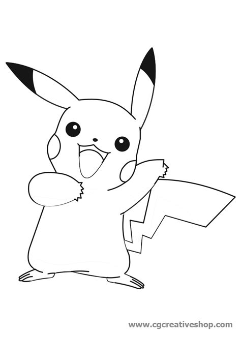 Pikachu, personaggio dei Pokèmon disegno da colorare