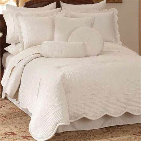 Scalloped Bedding white scalloped bedding bellacor