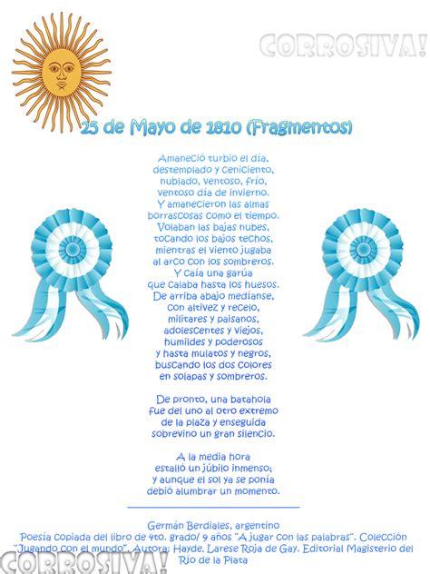 poesias del 25 de mayo de 1810 para nios poesia para el 25 de mayo de 1810 poesias para el 25 de