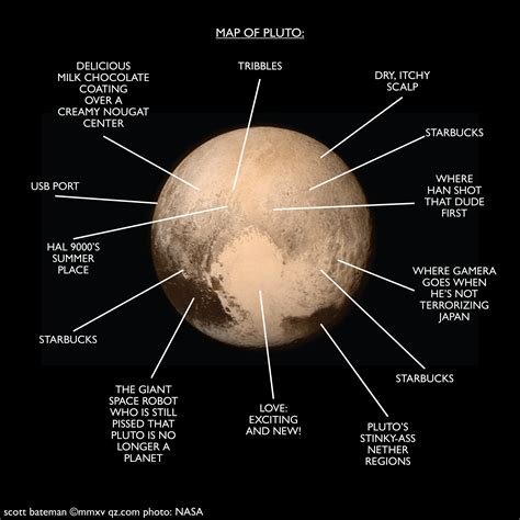 of the official map of pluto quartz