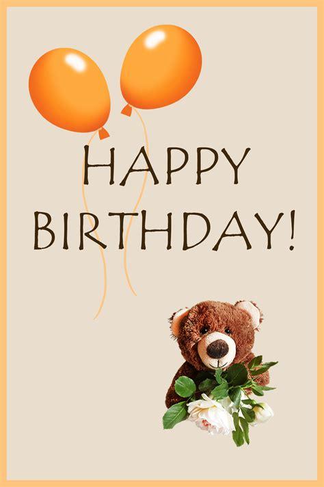 Printable Birthday Cards Teddy Bear | free birthday cards with teddy bears birthday party