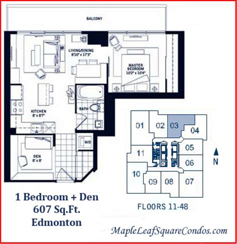 Condos Floor Plans by Maple Leaf Square Condos