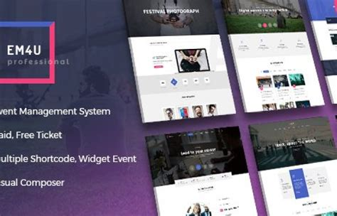 themeforest event themeforest em4u event management multipurpose wordpress