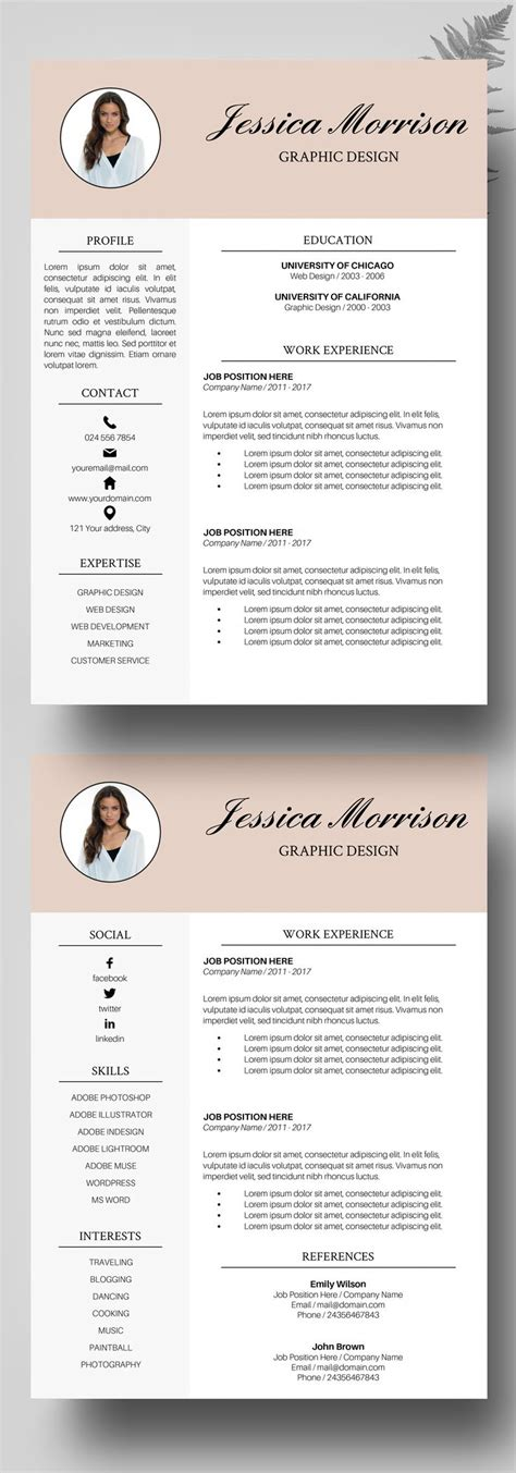 creative curriculum vitae template download de 20 b 228 sta id 233 erna om exemple de cv gratuit p 229 pinterest