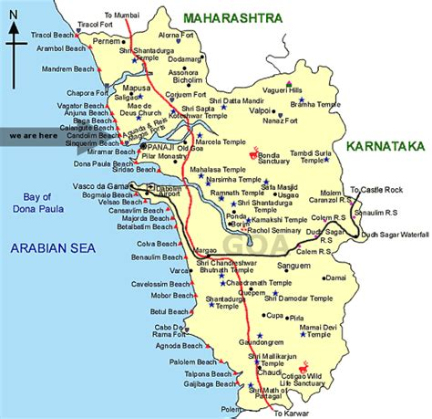 resort goa map guest house in candolim goa side location