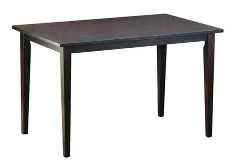 Polly Dark Brown Wood Modern Dining Table Affordable Modern Dining Table Wood