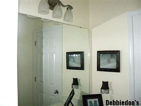 Bathroom Mirror Molding How To Add Molding Around Your Bathroom Builder Grade Mirrors Debbiedoos