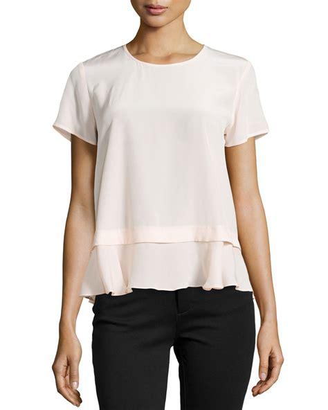 Sale Jual Rugi T Shirt Blouse Seleting Mutiara black ruffle blouse sleeve smart casual blouse