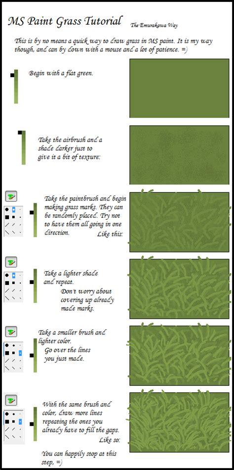 vector grass tutorial ms paint grass tutorial by emurakawa on deviantart