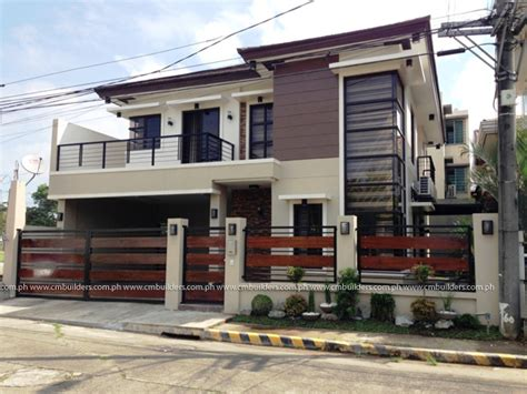 house zen design philippines 2 storey modern zen design valenzuela city cm builders