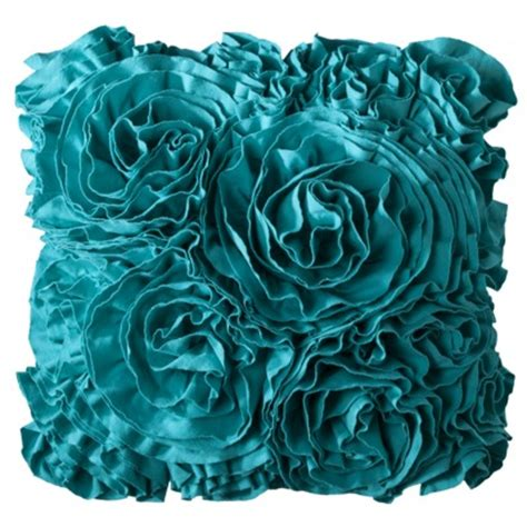 Turquoise Decorative Pillows Jersey Ruffle Decorative Pillow Everything Turquoise