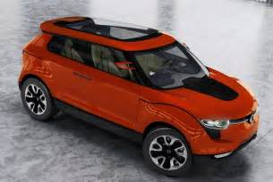 indian new model car upcoming mahindra ssangyong compact suv s102 concept model