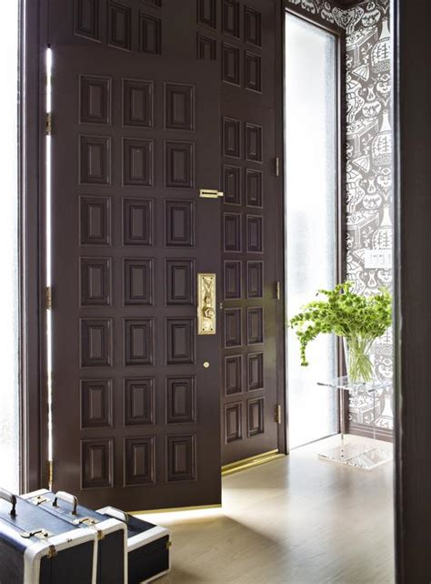 brown front door brown front door with gold hardware hgtv