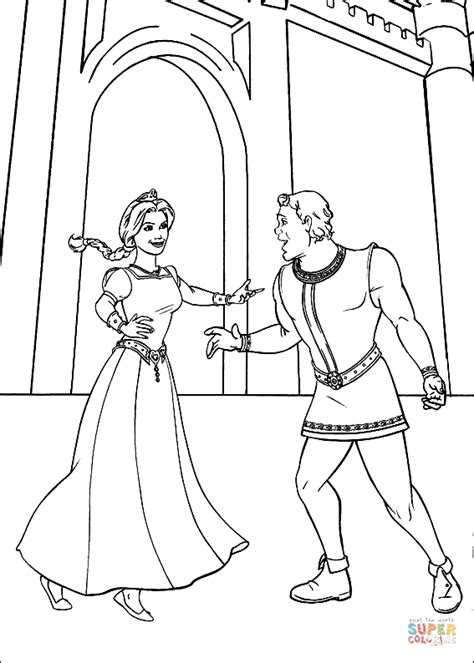 shrek coloring pages games fiona and shrek human coloring page free printable
