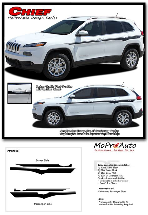 jeep vinyl decals chief jeep cherokee upper body line vinyl graphics decal