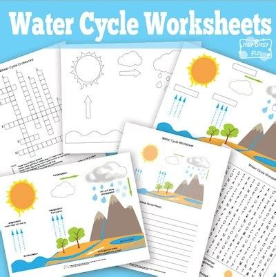 montessori worksheets for toddlers free water cycle hands on water activities for kids