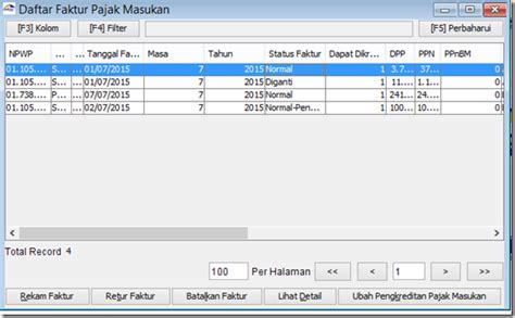 tutorial e faktur masukan cara membatalkan faktur pajak masukan di aplikasi efaktur