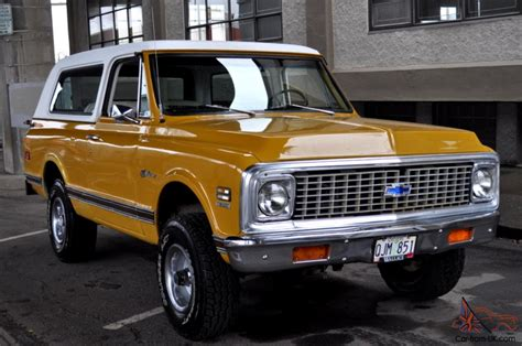 1972 chevrolet k5 blazer 1972 chevrolet k5 blazer cst custom 4x4 wheatland yellow