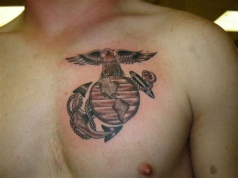 ega tattoo ega marine corps tattoos on chest marine corps tattoos