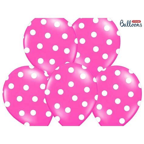 Balon Pink balon lateksowy 30 cm kropki pastel pink
