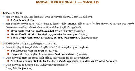 Abc Grammar abc grammar bai modal verbs shall should học anh văn