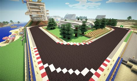 minecraft race car formula one racing track minecraft project