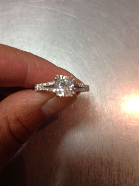 my engagement ring 1 carat cushion cut with 28