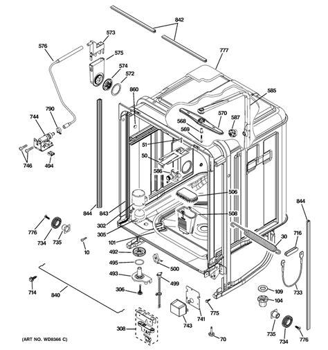 ge dishwasher diagram ge dishwasher parts model pdwf680r10ss sears partsdirect