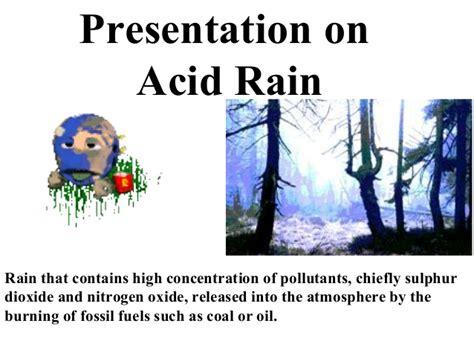 Govinda Presentation On Acid Rain Ppt Of Acid