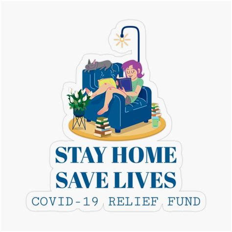 stay home save lives sticker   funny tshirts