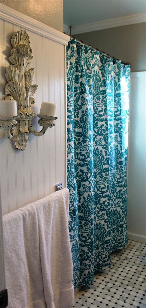 decorative shower curtains decorative turquoise shower curtain the homy design