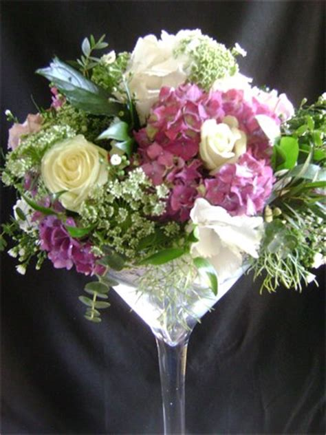 Flower Arrangements In Martini Glass Vases by Beautiful Arrangement In A Large Wine Glass Flower Arrangements Large Wine