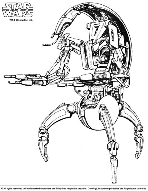 star wars droid coloring page star wars droids coloring pages