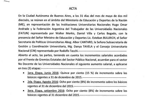 incremento salarial docente 2016 tabla salarial profesores universitarios 2016 tabla