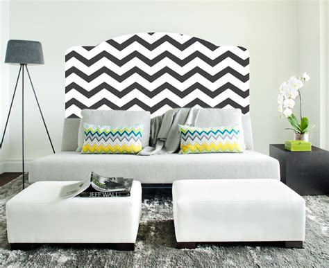 Headboard Mural by Chevron Headboard Mural Decal Headboard Wall Decal