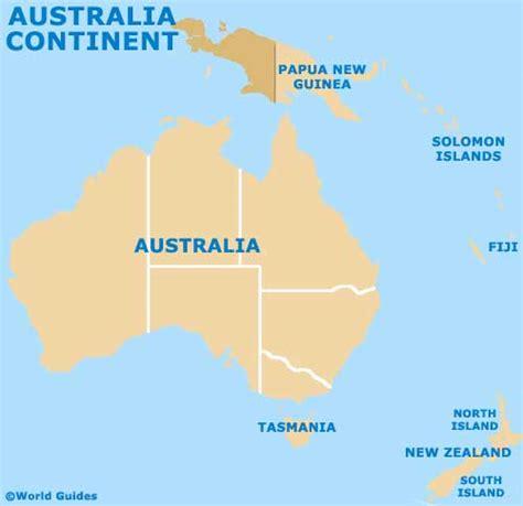 australia continent map continent of australia map